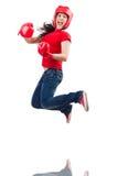 Kobieta bokser Fotografia Royalty Free