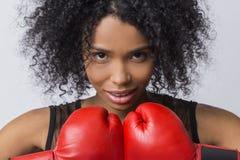Kobieta bokser od Afryka Fotografia Stock