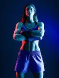 Kobieta boksera boks odizolowywający obrazy stock