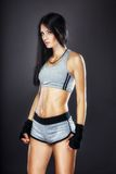 Kobieta boksera portret Fotografia Royalty Free