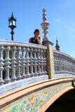 kobieta bridge Obrazy Royalty Free