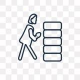 Kobieta Buduje Ścienną wektorową ikonę odizolowywającą na przejrzystym backgr ilustracji