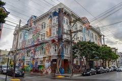 Kobieta budynek w San Francisco zdjęcia stock