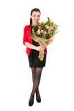 Kobieta bukieta kwiaty Obrazy Stock