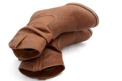 Kobieta butów kowboja styl Zdjęcia Stock
