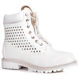 Kobieta buty na białym tle Obraz Royalty Free