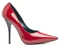 kobieta buty piętowi wysocy czerwoni Fotografia Stock