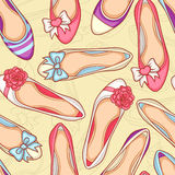 Kobieta buty ustawiający ilustracji