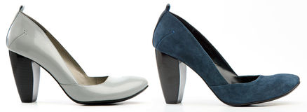 kobieta buty wysocy buty dwa Fotografia Stock
