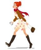 kobieta charakteru pixelization kobieta piękny młody zakupy Obrazy Royalty Free