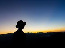 Kobieta cień na ziemi Obraz Stock