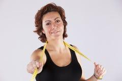 Kobieta cieszy się jej dietę Zdjęcia Stock