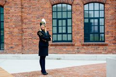 Kobieta czarny węglowy górnik w galówka mundurze Zdjęcie Royalty Free