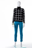 Kobieta czarny w kratkę pulower Zdjęcie Stock