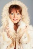 Kobieta czterdzieści rok w biały żakiecie obrazy royalty free