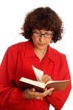 kobieta czytelnicza księgowa fotografia royalty free