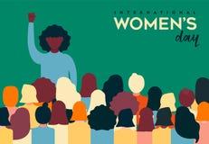 Kobieta dnia karta różnorodna kobiety grupa royalty ilustracja