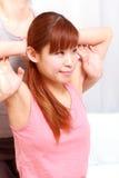 Kobieta Dostaje Tajlandzkiego masaż Obrazy Stock