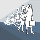 Kobieta, edukacja, sukces royalty ilustracja