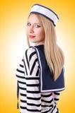 Kobieta żeglarz Obraz Royalty Free