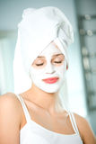 kobieta facial bal Obraz Royalty Free