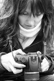Kobieta fotograf Obraz Royalty Free