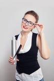 Kobieta fryzjer z, fryzjer męski lub Zdjęcia Royalty Free