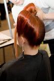 kobieta fryzurę zdjęcie stock