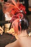 kobieta fryzurę Zdjęcie Royalty Free