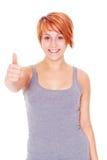 Kobieta gesta aprobaty Obraz Royalty Free