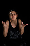 Kobieta gesty Fotografia Royalty Free