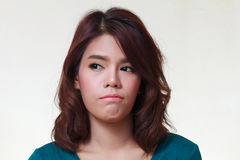 kobieta gniewny Fotografia Royalty Free
