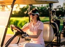 kobieta golfowa grać Obraz Stock