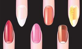 Kobieta gwoździe, manicure Obraz Stock
