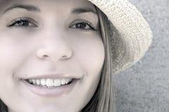 kobieta hat obrazy royalty free