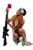 Kobieta hipis Zdjęcia Royalty Free