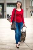Kobieta i bagaż Obraz Stock