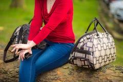 Kobieta i bagaż Fotografia Stock