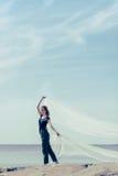Kobieta i biała szata Fotografia Stock