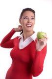 Kobieta i jabłko Obraz Stock