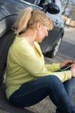 Kobieta i jej samochód Obraz Royalty Free