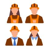 Kobieta i Męska inżyniera pracownika ikona Kobiety i mężczyzna pracownik fura Obraz Royalty Free