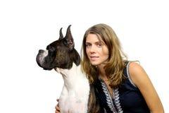 Kobieta i pies Fotografia Stock