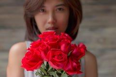 Kobieta I rewolucjonistki róża Obraz Royalty Free