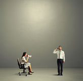 Kobieta i stresujący się nad zmrokiem Obraz Stock