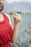 kobieta i tequila Zdjęcie Stock