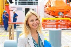 Kobieta inżyniera okrętowiec Zdjęcie Royalty Free