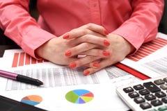 Kobieta inwestorski konsultant zdjęcie royalty free