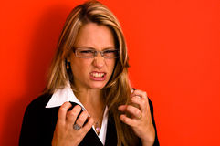kobieta irated Zdjęcia Stock