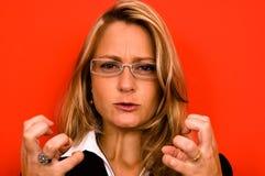 kobieta irated Fotografia Royalty Free
